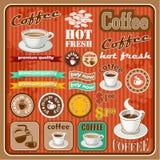 Vintage coffee and tea set icon. Royalty Free Stock Photos