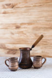 Vintage coffee turkish. And cup Stock Photography