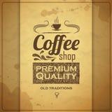 Vintage coffee typography background Stock Photo