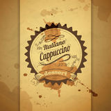 Vintage coffee typography background Stock Photos