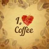 Vintage coffee typography background Stock Images