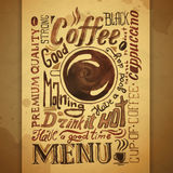 Vintage coffee typography background Stock Image