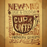 Vintage coffee typography background Stock Photography