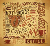 Vintage coffee typography background Royalty Free Stock Image