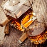 Vintage cognac background Stock Image