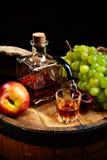 Vintage cognac Stock Photography