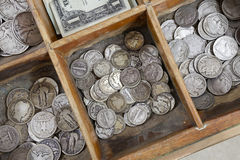 Vintage Coin Drawer Royalty Free Stock Photos