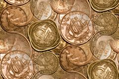 Vintage Coins Background Abstract Royalty Free Stock Image