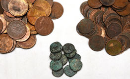 VINTAGE COINS Royalty Free Stock Images