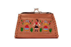 Vintage coins purse Royalty Free Stock Image