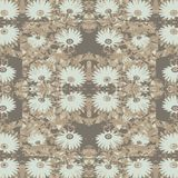 Vintage Collage Floral Motif Seamless Pattern. Digital photo collage and manipulation technique vintage style daisy floral motif seamless pattern design in Royalty Free Stock Photography