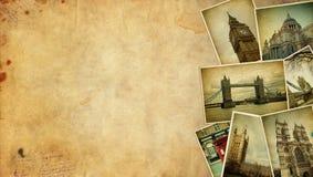 Vintage collage. London travel Blank. Royalty Free Stock Photos