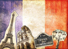 Vintage collage Paris Royalty Free Stock Photography