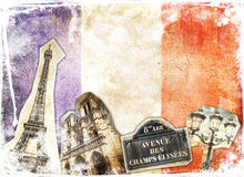 Vintage collage Paris Royalty Free Stock Photos