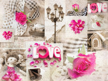 Vintage collage style shabbi chic. Royalty Free Stock Photo