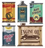 Vintage collection of car and transportation related products Royalty Free Stock Photos