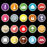 Vintage collection flat icons with long shadow Stock Image