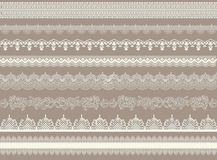 Vintage collection of lace ribbons Stock Photography