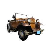 Vintage collector car isolated. Over white with clipping path Royalty Free Stock Photo