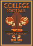 Vintage college american football poster Stock Photos