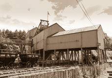 Vintage colliery Stock Photo
