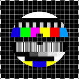 Vintage coloful TV screen stock illustration