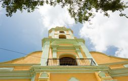 Vintage Colonial Bell Tower in Trinidad Church Royalty Free Stock Image