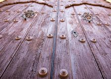 Vintage Colonial Church Door in Remedios,Cuba Royalty Free Stock Photo