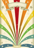 Vintage color. A vintage carnival poster for your parade Royalty Free Stock Photography