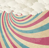 Vintage Color Background With Clouds Royalty Free Stock Photos
