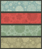 Vintage color christmas banners, vector. Illustration Royalty Free Stock Photo