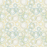 Vintage color curved circles pattern - seamless ba Stock Photos