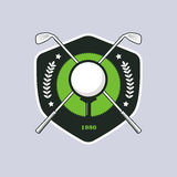 Vintage color golf badge Stock Photos