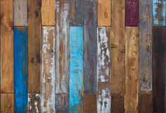 Vintage color of old wooden wall background texture Royalty Free Stock Photography