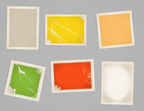 Vintage color post stamps Stock Image
