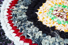 Vintage color rag rug handmade Royalty Free Stock Image