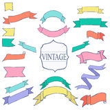 Vintage Color ribbon tape text placeholder Royalty Free Stock Image