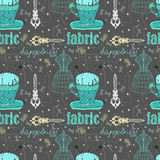 Vintage Color Seamless pattern - fashion and sewing Royalty Free Stock Image