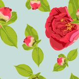 Spring summer bloom. Beautiful background blooming retro flowers. Vintage color spring summer flowers - floral background - seamless pattern for design, print Royalty Free Stock Image