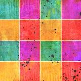 Vintage color squares. Over grunge background royalty free stock images