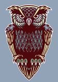 Vintage color style of owl bird Royalty Free Stock Images