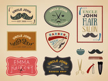 Vintage color tone barber shop logo Royalty Free Stock Photography
