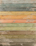 Vintage color wood planks vertical background royalty free stock photography