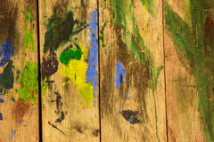 Vintage color on wooden wall. Background Stock Photo