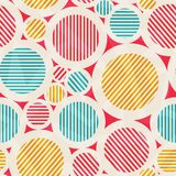 Vintage colored circle seamless texture Royalty Free Stock Photography
