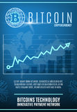 Vintage Colored Crypto Currency Poster Royalty Free Stock Photography