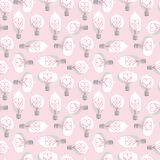 Vintage Colored Light Bulbs Seamless Pattern Royalty Free Stock Images