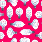 Vintage Colored Light Bulbs Seamless Pattern Royalty Free Stock Image
