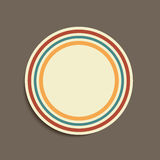 Vintage colored stripes sticker Royalty Free Stock Image