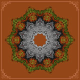 Vintage, Colorful, arabesques mandala/rosette, ornamental design Stock Images